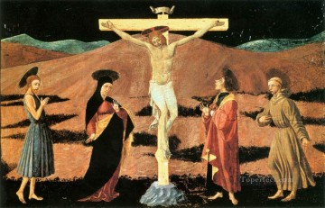 Crucifixion early Paolo Uccello religious Christian Oil Paintings